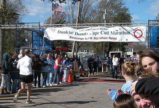 Cape Cod Marathon Finish Line