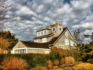 beach houses in the fall