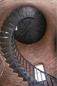 interior of Nobska Lighthouse on Cape Cod
