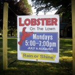 Lob-stah on the Lawn Banner