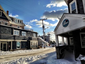 Woods Hole in snow