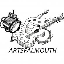 ArtsFalmouth logo with white_0